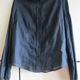 Красивая и стильная блуза рубашка с пышными руквами котон
