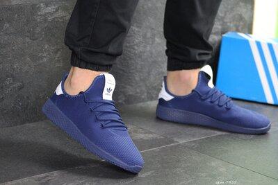 Adidas Pharrell Williams кроссовки мужские демисезонные темно синие 7955
