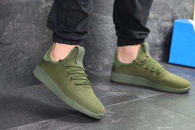 Adidas Pharrell Williams кроссовки мужские демисезонные темно зеленые 7957