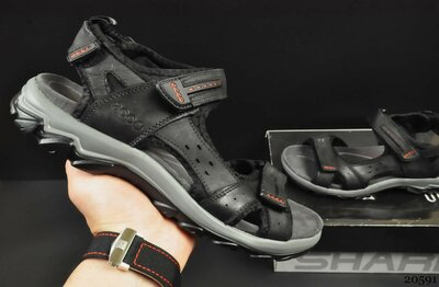 Мужские кожаные сандалии Ecco black