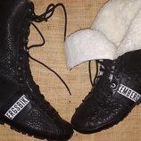 37р-24.5-25 см на меху ботинки Dirk Bikkembergs стелька кожа вынимается , углубление 24.5-25, вася с