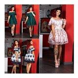 Платье с кружевом мод.3967