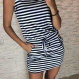 Платье-Туника тельняшка в полоску Бьянка