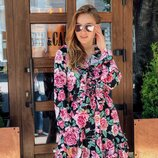 Легкое пышное платье семь расцветок