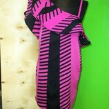 Платье с рюшем баской на одно плечо twist and tango