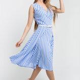 Легкое платье в трендовую широкую полоску Иванна Leo
