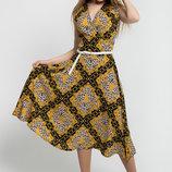 Платье с юбкой-солнце Иванна Leo черный леопард