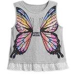 Красивенная футболка майка Disney Бабочка с кружевом. Девочке 5-6 лет. Оригинал Сша
