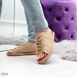 Женские шлёпанцы шнуровка