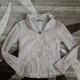 блуза рубашка бохо пудра нюд Италия Bottega