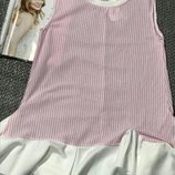 Платье полоска розовое