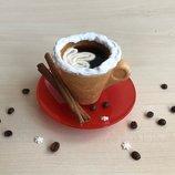 Чашка и печенье 2в1. Съедобная посуда. Оригинальный и вкусный подарок