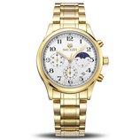 Мужские наручные часы Megir 5007 Gold / Гарантия