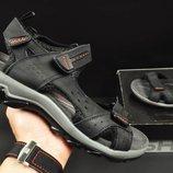 Мужские сандали кожа Ecco graphite