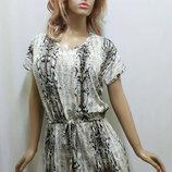Платье женское змеиный принт