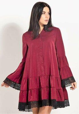 Эффектное платье из льна.