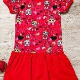 Платье красное с LOL