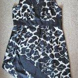 Нарядное тонкое платье черное на золотом Papaya