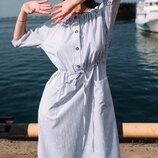 Женское летнее платье в тонкую полоску ткань софт скл.1 арт.54769