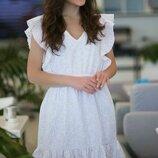 Женское летнее платье из батистовой ткани с прошвой скл.1 арт.54767