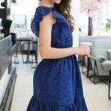 Женское летнее платье из батистовой ткани с прошвой скл.1 арт.54766