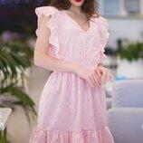 Женское летнее платье из батистовой ткани с прошвой скл.1 арт.54765