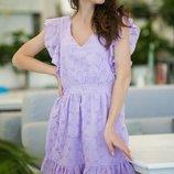 Женское летнее платье из батистовой ткани с прошвой скл.1 арт.54764