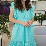 Женское летнее платье из батистовой ткани с прошвой скл.1 арт.54763