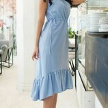 Женское летнее платье из натурального лена микс пастельных тонов скл.1 арт.54761