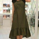 Женское летнее платье из натурального лена микс пастельных тонов скл.1 арт.54760