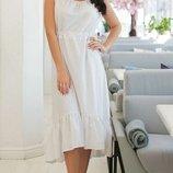 Женское летнее платье из натурального лена микс пастельных тонов скл.1 арт.54759
