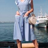 Женское летнее платье с кружевом ткань софт диагональ скл.1 арт.54778