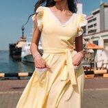 Женское летнее платье с кружевом ткань софт диагональ скл.1 арт.54777