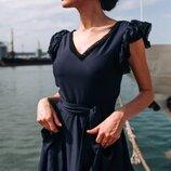 Женское летнее платье с кружевом ткань софт диагональ скл.1 арт.54776