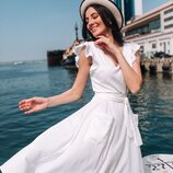 Женское летнее платье с кружевом ткань софт диагональ скл.1 арт.54775