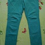 Мятные джинсы,скинни 44-46р.