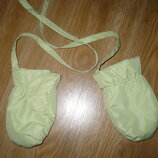 Перчатки балоневые без пальца до 1 года салатовые