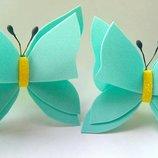 Бабочки на резиночках