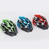 Велошлем кросс-кантри с механизмом регулировки HY032 размер 55-58см 3 цвета