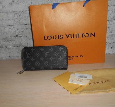 Кошелек-Клатч, барсетка Louis Vuitton на 2 молнии, кожа, Франция