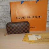 Кошелек-Клатч, барсетка мужская Louis Vuitton на 2 молнии, кожа, Франция