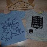 Набор футболочек мальчику 9-12 мес сост идеал