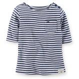 Топ футболка для девочки Carters полоска
