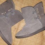 евро 38-24.5 замша ботинки зима Adidas англ 5 высота от пола 20 ширина вверху 39 ширина подошвы 9.5
