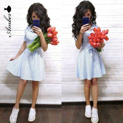 Платье мелкая полоска 42-44, 46-48 размеры 2 цвета