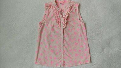 Новая хлопковая блузка блузон Pocopiano на 7-8 лет рост 128 см