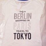 Белая женская футболка Lc Waikiki / Лс Вайкики с надписью Berlin, Paris, Tokyo