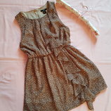 Легкое летнее платье пятнистый принт