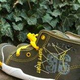 Джинсовые кеды , прорезиненый носок р.28-17см