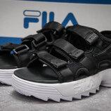 Сандалии женские Fila Disruptor SD, черные босоножки спорт спортивные 35.36.37.38.39 размер